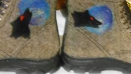 Валяные ботинки из овечьей шерсти
