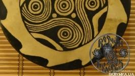 Шаманский бубен с рисунком