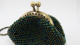 Кошелек-монетница из бисера