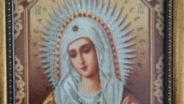 Вышитая икона «Сирафимо-дивеевская»