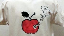 футболка ручной росписи