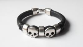 Мужской браслет с черепами, ручной работы, регализ rs01