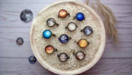 Кольца с планетами Солнечной системы. Кольца космос, Земля, Луна, Солнце