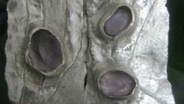 Комплект из серебра с аметистами