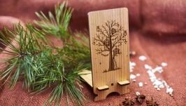 Подставка под мобильный телефон ′Дерево′ из натурального дерева