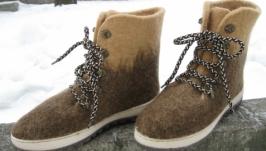 Обувь на заказ зимняя валяная обувь ботинки женские