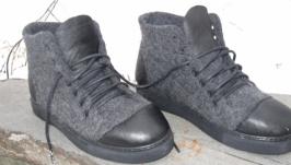 Обувь на заказ зимняя валяная обувь ботинки мужские подарок