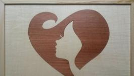 Екологічний подарунок коханим - панно у техніці маркетрі