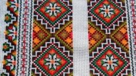 Традиционная льняная вышиванка из Карпат