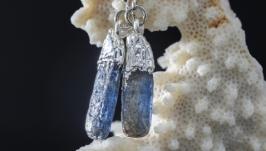 Серьги ′Кианит′ (натуральные камни, кристаллы) 5936