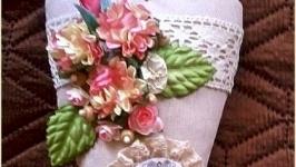 Интерьерное сердечко-подвеска,подарок,ручная работа