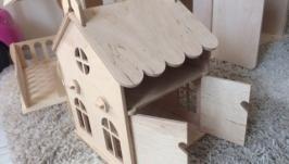 Кукольный домик габариты 20см-20см-26см