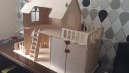 Кукольный домик габариты 100см-35см-74см