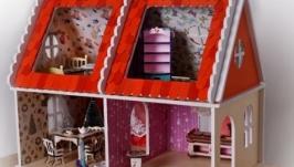 Кукольный домик ′Песочный фасад′