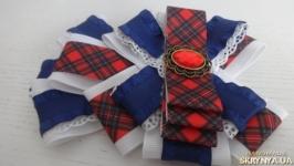 Брошь-галстук из репсовых лент