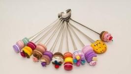 Вкусные ложки с декором из полимерной глины