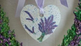 Романтическое Сердечко -подвеска - *  С весною в Прованс*.
