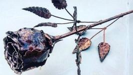 Ковані троянди.Wrought iron rose.