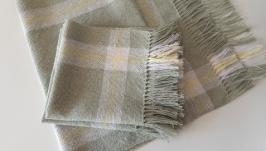 Тканое кухонное полотенце и салфетки из льна