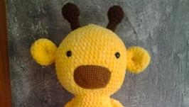 М′яка плюшева іграшка ручної роботи ′Сонячний Жираф′