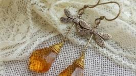 Серьги ′ Медовые стрекозы′