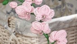 Цветы из бисера в натуральную величину