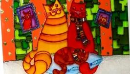 Картина на стекле Счастливое семейство 2