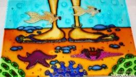 Картина на стекле На море 2