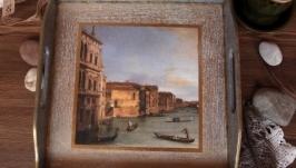 Поднос ′Весна в Венеции′