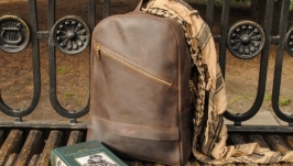 Рюкзак мужской из натуральной кожи ′Grave′
