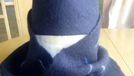 Комплект мужской шапка  шарф