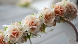 Персиковые грезы. Веночек с цветами