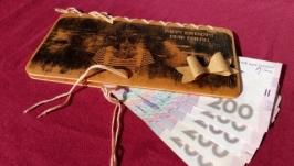Дерев′яний подарунковий конверт для грошей з вашим фото!