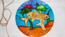 Золотые рыбки - оконная мандала