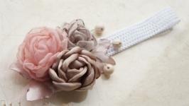 Повязка с цветами ′Рита′ №121