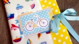 Блокнот Мамины заметки для мальчика с велосипедом