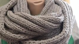 Чоловічий шарф - хомут. Ручне в′язання