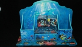 Настольное бюро с вечным календарем ′Тайны морских глубин′