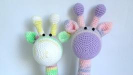 Меланжевые жирафик ручной работы
