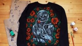 Теплый свитшот с рисунком ′Космонавт′