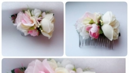 Свадебный цветочный гребень Гребень для волос Заколка для невесты Гребень