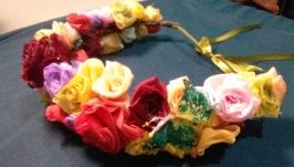 вінок-різнобарвні троянди