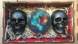 Ароматное мыло - оригинальный подарок - Вселенная и 2 черепа