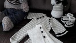 Комплект для новорожденного малыша ′Серый кардинал′