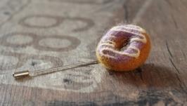 Брошка з вовни ′Пончик′