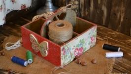 Короб для рукоделия ′Мамин ситчик′
