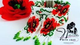 Комплект украшений Цветущие маки