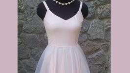 Платье нарядное розовое на заказ с фатином.