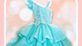 Платье: Лебедь цвета TIFFANY
