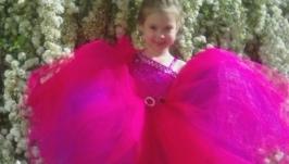 Нарядное платье Принцесса цвет Фуксия